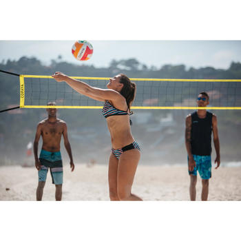 Filet de beach-volley BV100 WIZ NET jaune