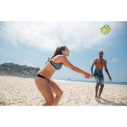 Balón de voley playa BV100 blanco y amarillo