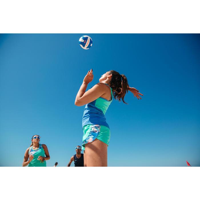 Ballon de beach-volley BV500 blanc et bleu