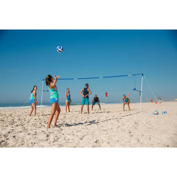 Bal beachvolley BV500 wit en blauw
