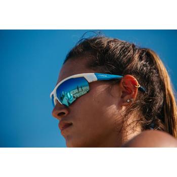 Sonnenbrille BVSG500 Beachvolleyball blau/weiß/schwarz