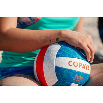 Balón de voley playa BV500 azul y naranja