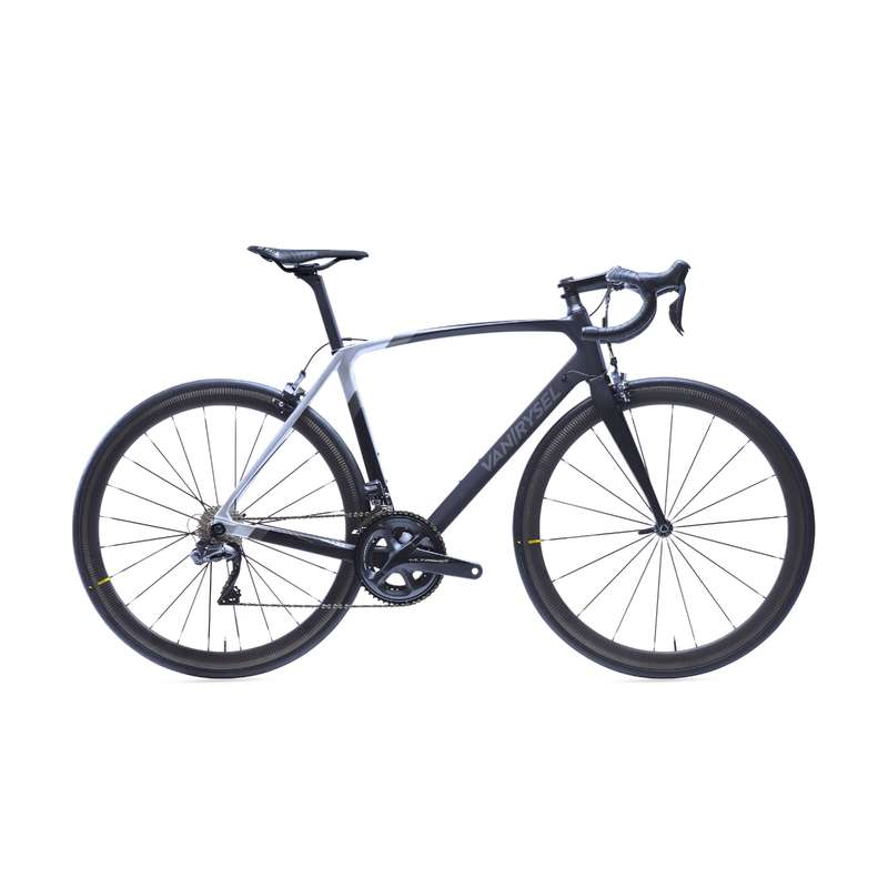ROAD RACING BIKES Cycling - RR 940 CF Carbon Road Bike, Black - Ultegra Di2 VAN RYSEL - Bikes