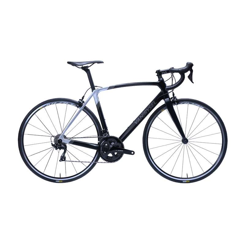 ROAD RACING BIKES Cycling - RR 900 CF Carbon Road Bike Black - 105 VAN RYSEL - Bikes