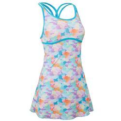 女款單件式連身裙泳裝Riana - 斑點/藍色