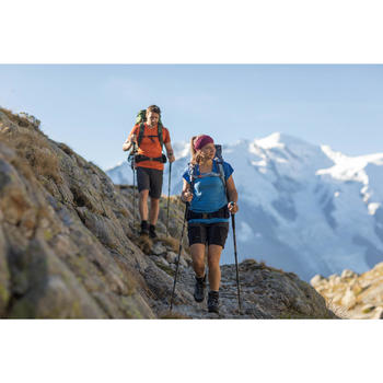 Afritsbroek voor bergwandelingen Trek 500 dames donkergrijs