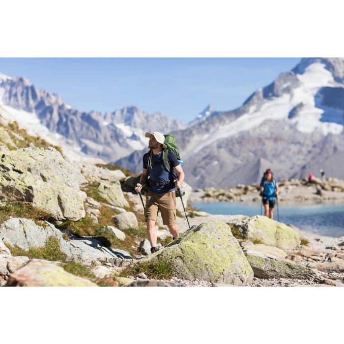 Short trekking montagne TREK500 homme marron