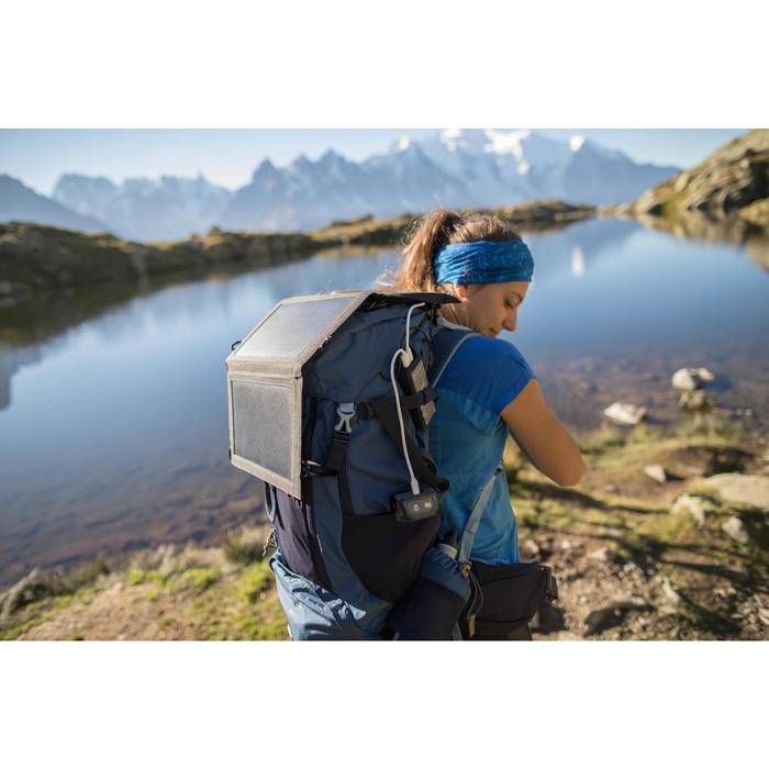 Linterna Frontal Montaña Trekking Forclaz Recargable TREK500 Negro 200 lúmenes