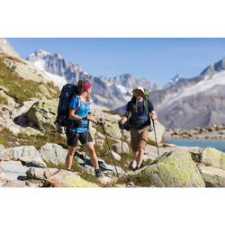Chapeau de trekking montagne anti-UV - TREK 500 bleu homme