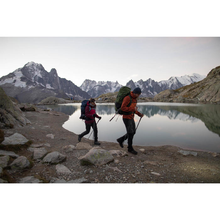 Bergsport rugzak voor heren Trek 500 70 l + 10 l groen