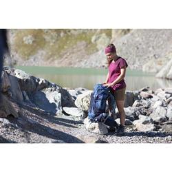 Trekkingshirt Trek 500 Merino Kurzarm Damen violett