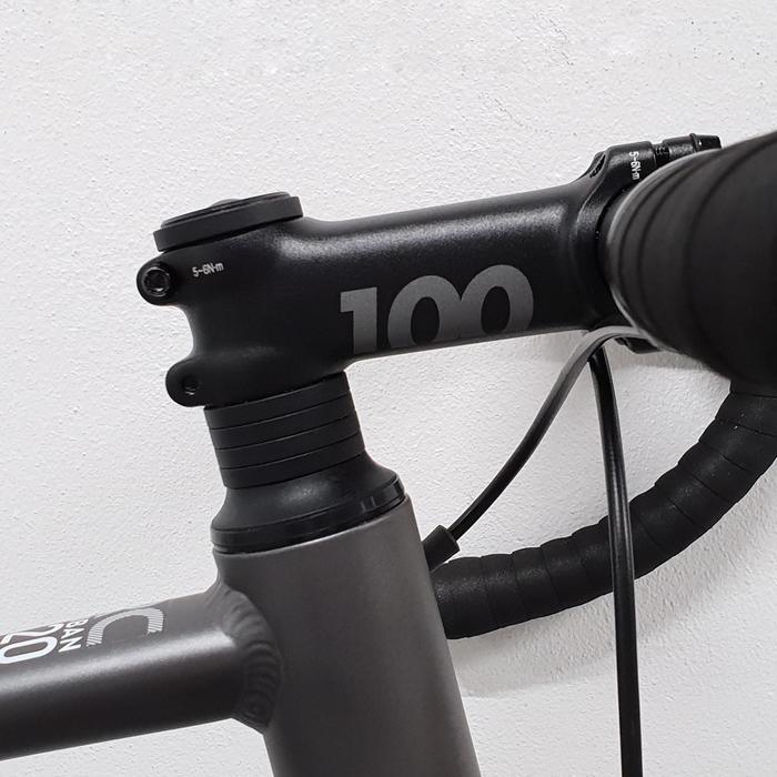 Herenracefiets voor recreatief gebruik RC120 grijs