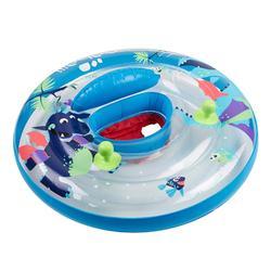 透明「龍圖案」嬰幼兒坐式泳圈搭配探索握把