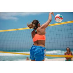 Brassière de beach-volley BV 500 orange réversible