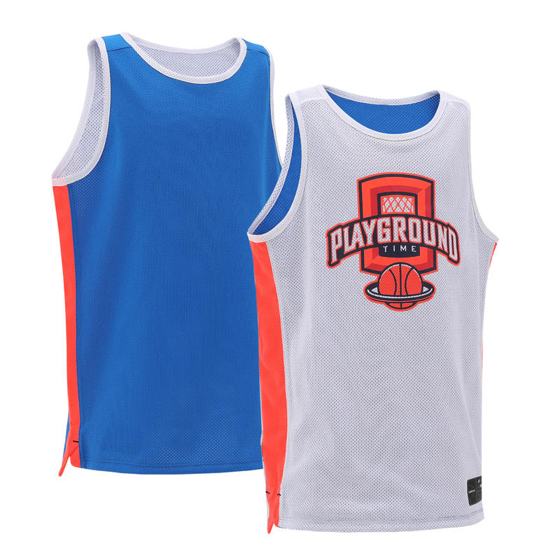 29a26257c T500R Boys  Girls  Intermediate Basketball Reversible Jersey - Blue ...