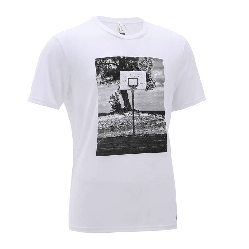 MAN BASKETBALL OUTFIT Basketball - Men's T-Shirt TS500 - White TARMAK - Basketball Clothes