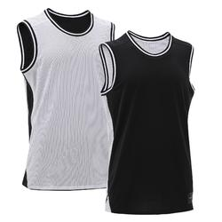 Reversible Sleeveless Basketball Jersey, Intermediate Players - Black/White