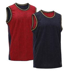 Reversible Sleeveless Basketball Jersey, Intermediate Players - Red/Navy