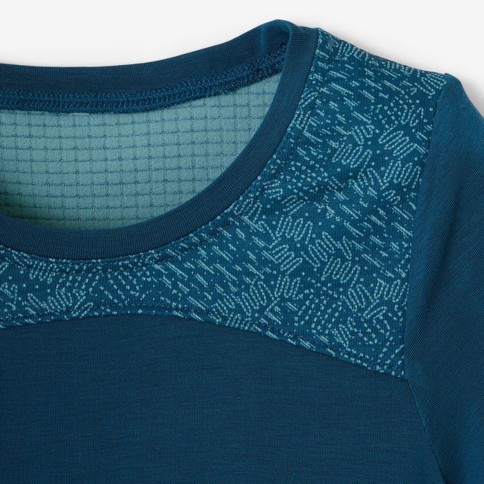 T-shirt manches courtes baby gym 500 DRY Bleu