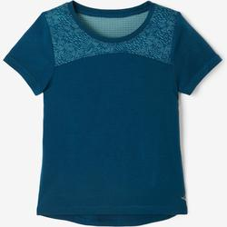 T-shirt manches courtes baby gym 500 DRY Bleu