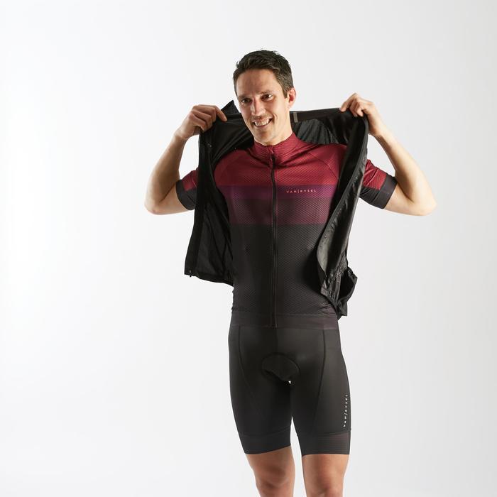 Road Cycling Ultra-Light Sleeveless Windbreaker - Black