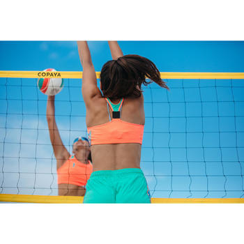 Beachvolleyball-Bustier BV500 Wende-Top orange