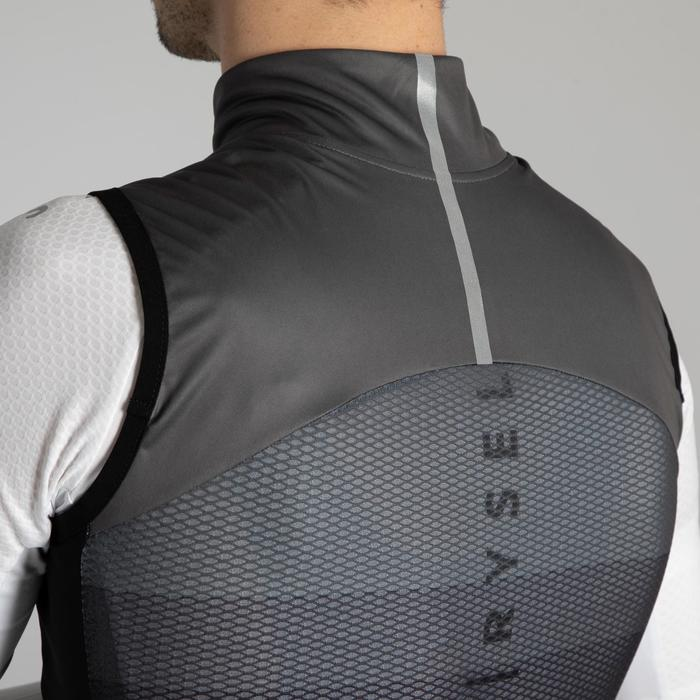 Road Cycling Windproof Gilet - Black