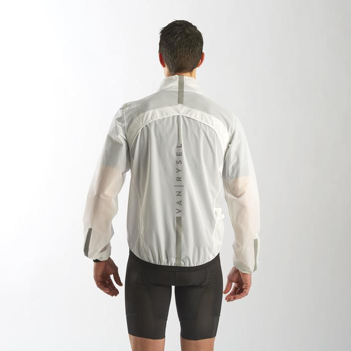COUPE PLUIE ULTRALIGHT VELO ROUTE HOMME CYCLOSPORT BLANC