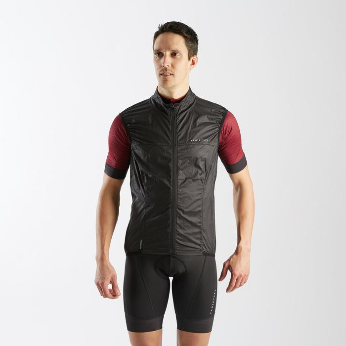 COUPE-VENT SANS MANCHE ULTRA-LIGHT VELO ROUTE HOMME NOIR