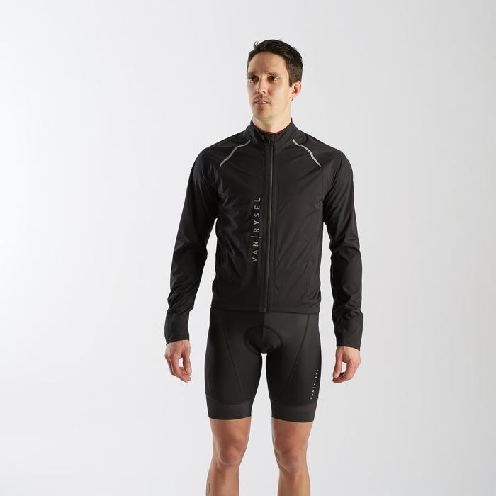 Wielren regenjas RR900 voor heren zwart