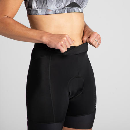 900 Women's Bibless Cycling Shorts - Black