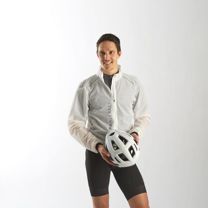 Fahrrad Regenjacke Rennrad RR 900 Ultralight Herren weiß