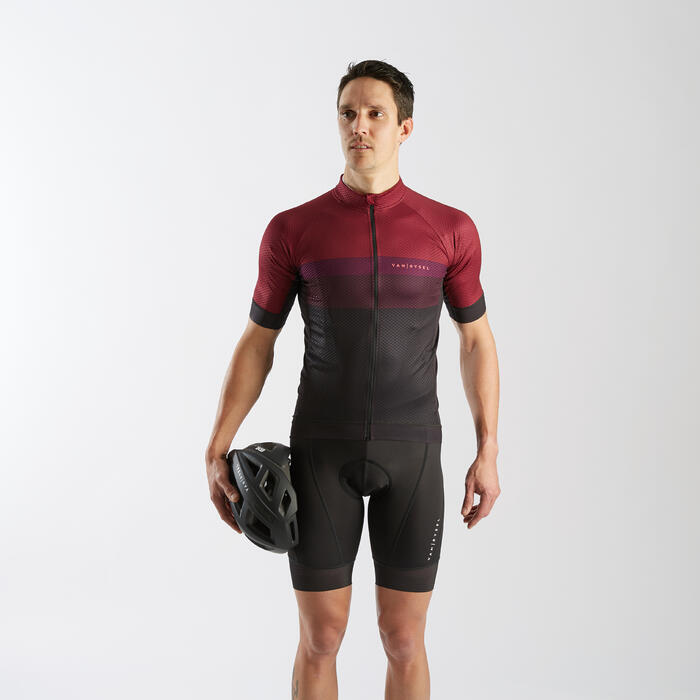 Road Sport Cycling Summer Jersey - Burgundy