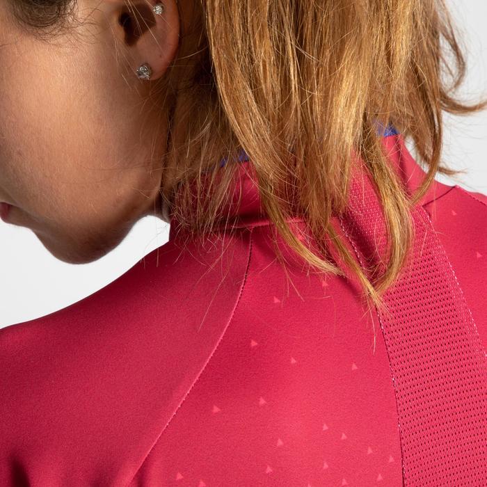 Wielershirt RR900 met korte mouwen voor dames roze