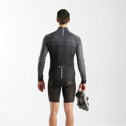 Fietsshirt met lange mouwen voor wielrennen heren zwart