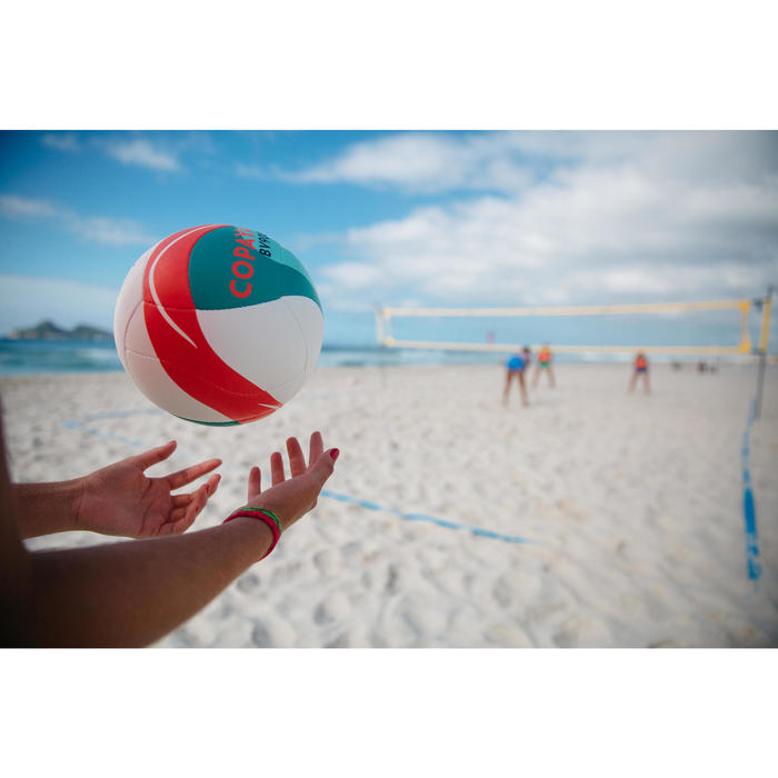 Ballon de beach-volley BV900 FIVB blanc vert et rouge
