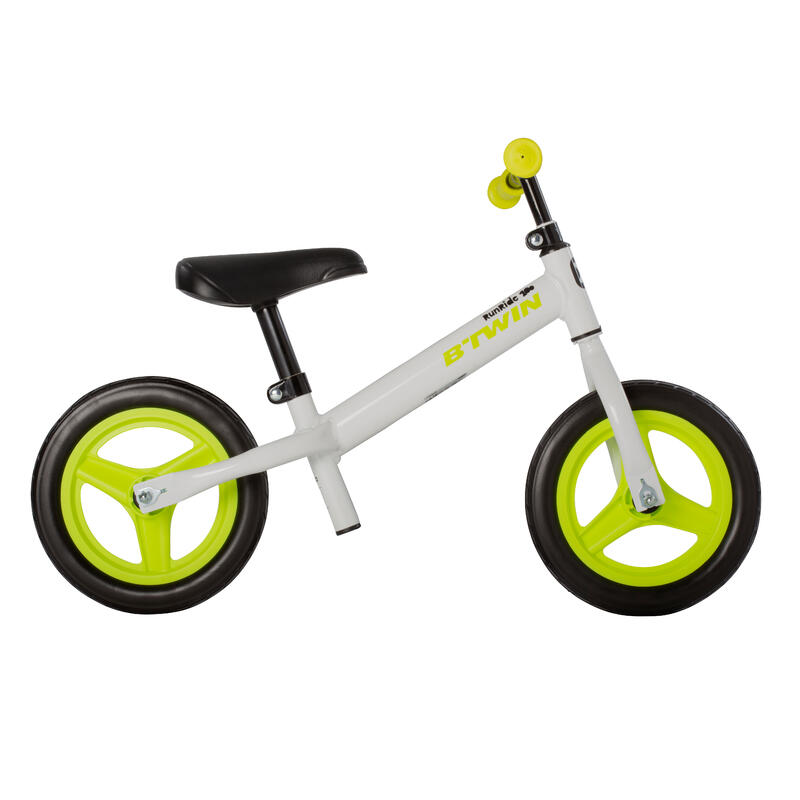 Kids' 10-Inch Balance Bike RunRide 100 - White/Lime