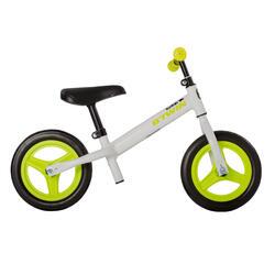Bicicleta sin pedales para niños 10 pulgadas Run Ride 100 blanca