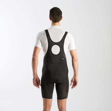 Vasarinės sportinės plento dviratininko kelnės, juodos