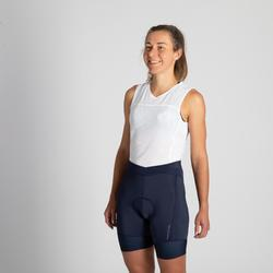Wielrenbroek RR900 zonder bretels dames marineblauw