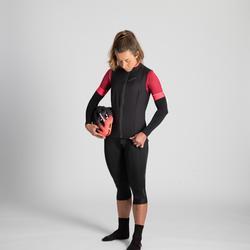 RC 500 Women's Windproof Cycling Gilet - Black