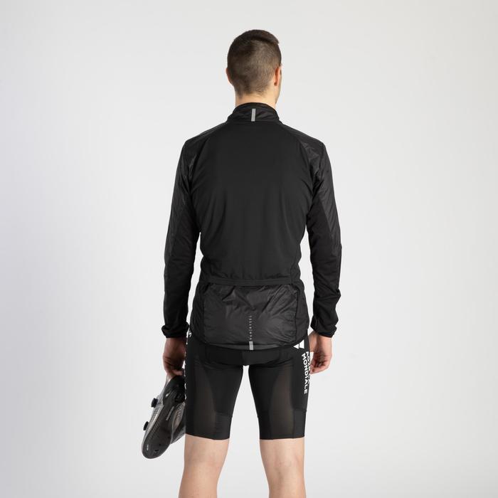 Wielren windjack RR500 lange mouwen heren Ultralight zwart