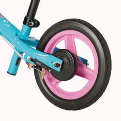 Loopfietsje voor kinderen 10 inch Run Ride blauw/roze - 162557