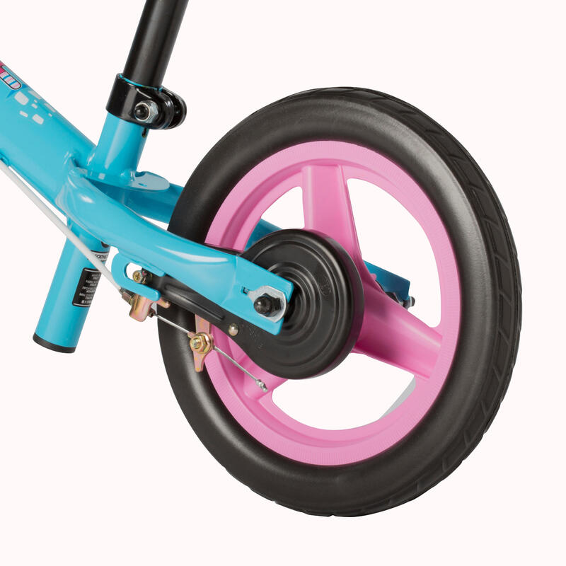RunRide 500 Children's 10-Inch Balance Bike - Blue/Pink