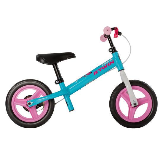 Loopfietsje voor kinderen 10 inch Run Ride blauw/roze - 162558