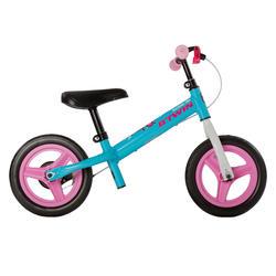 Loopfiets 2 tot 4 jaar 10 inch Run Ride 500 blauw/roze