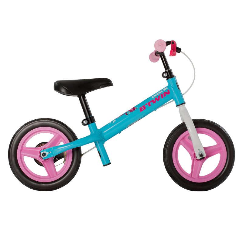 Lauf-/Dreiräder (0,85-1,05m) Radsport - Laufrad Run Ride 500 blau/rosa BTWIN - Kinderfahrräder