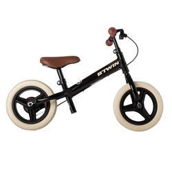 Bicicleta de 10 pulgadas sin pedales para niños RunRide 520 Cruiser negro