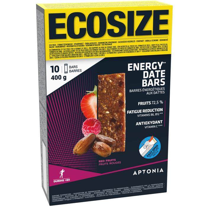 Barrita energética con dátiles y frutos rojos ECOSIZE 10x40 g