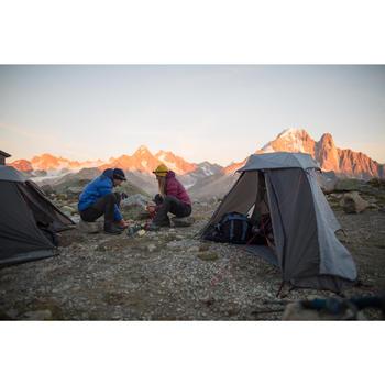 Trekking Cooking Set in Stainless Steel for 2 People - TREK 500 1.6 Litres